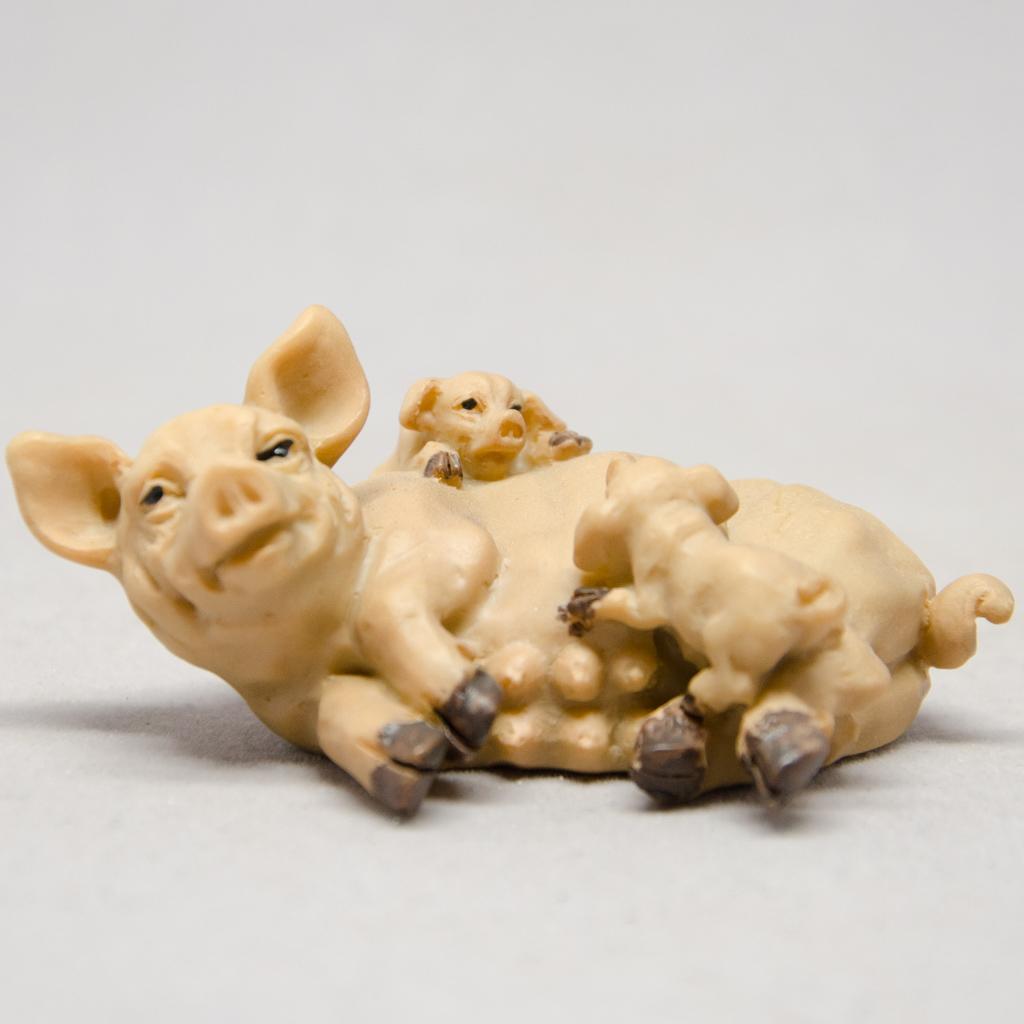 Schwein mit Ferkel
