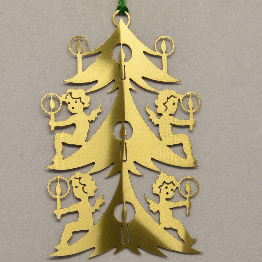 Baum mit Engel und Kerzen