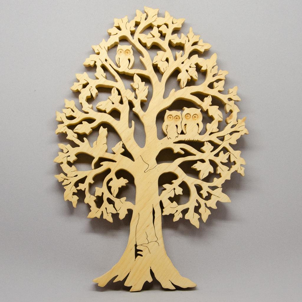 Baum mit Eulen