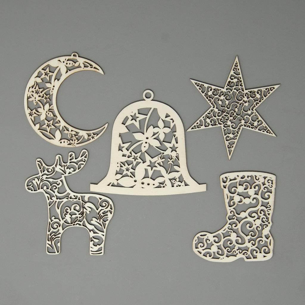 Set Weihnachtsornamente
