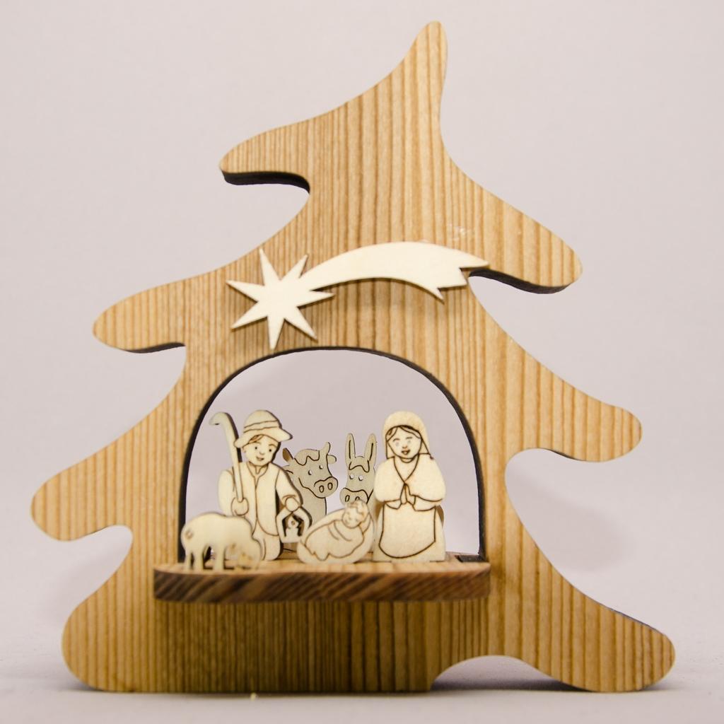 Hl. Familie 3D in Tanne