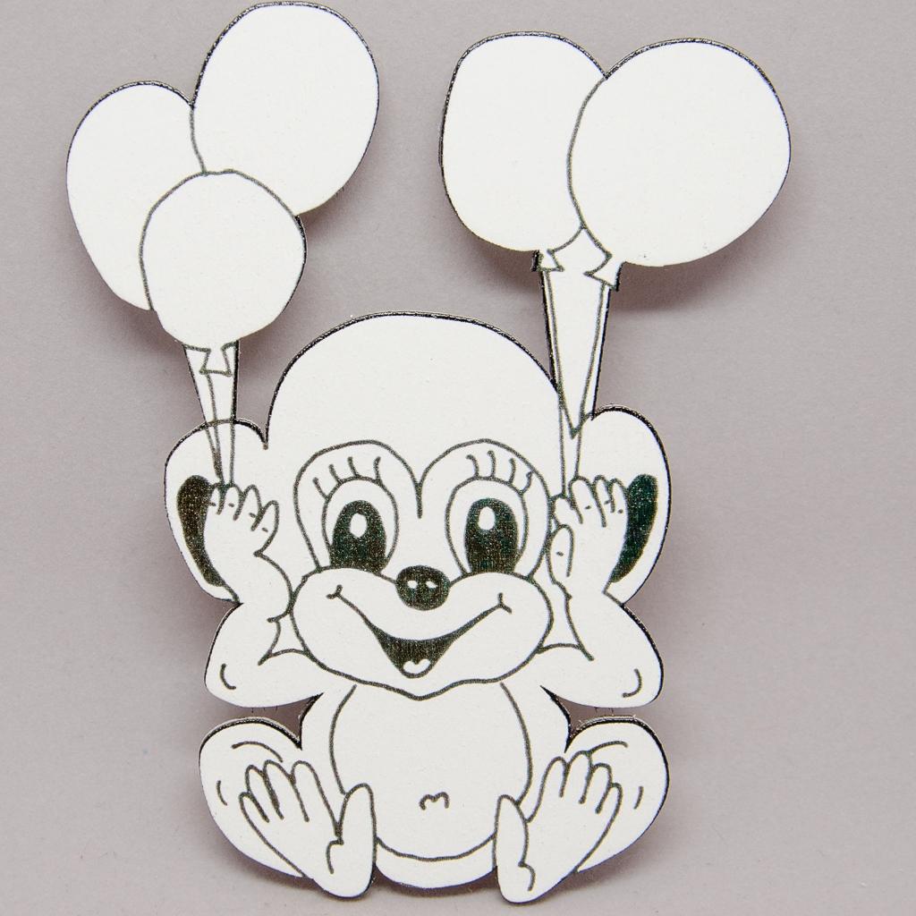 Magnet Äffchen mit Luftballons