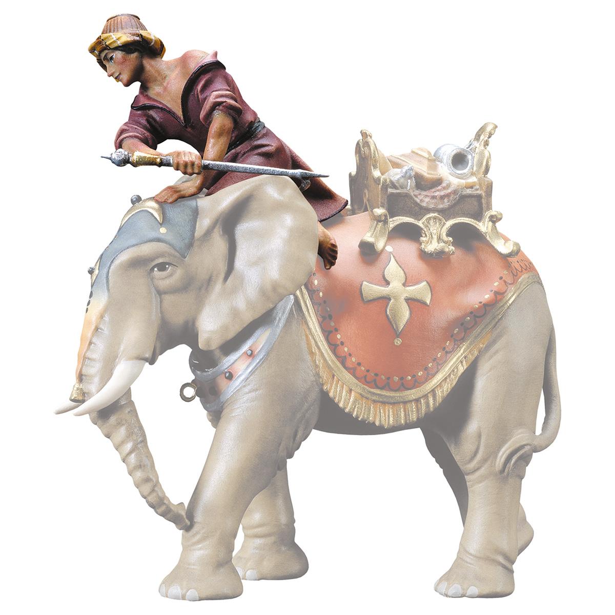 Elefantentreiber sitzend (ohne Elefant)