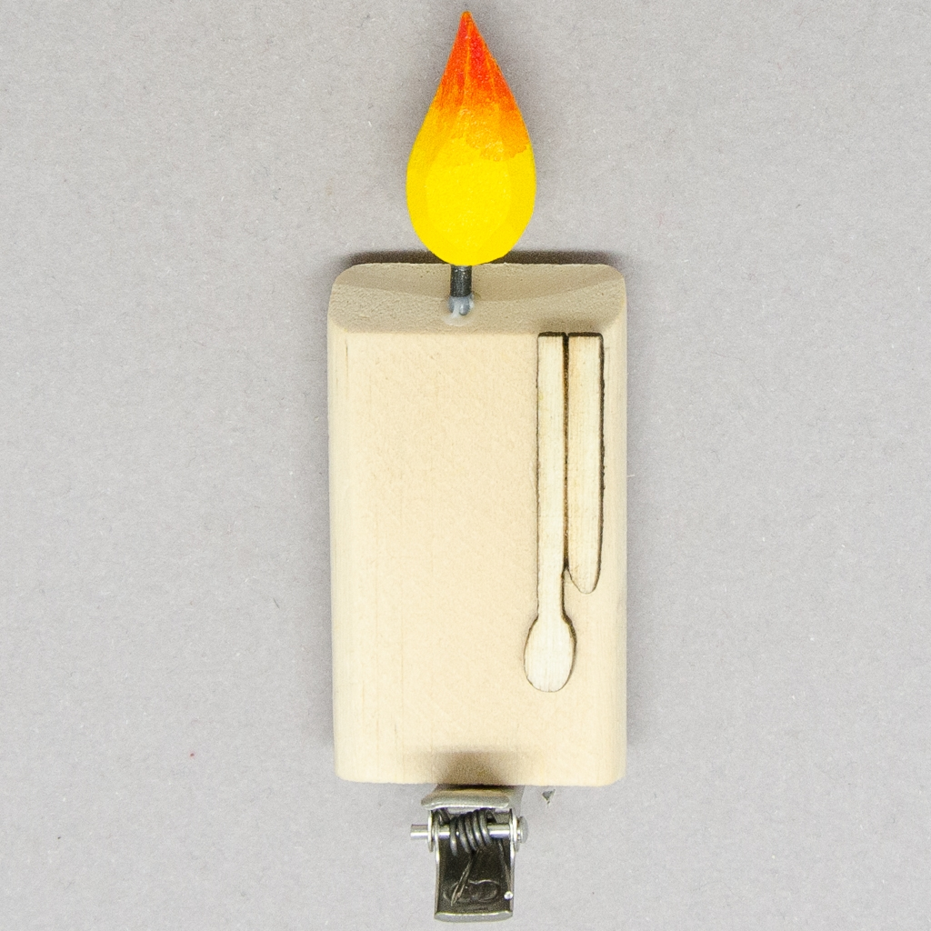 Kerze mit Clip
