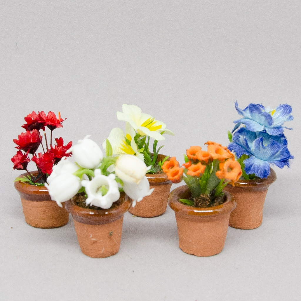 Terrakottatöpfe mit Blumen