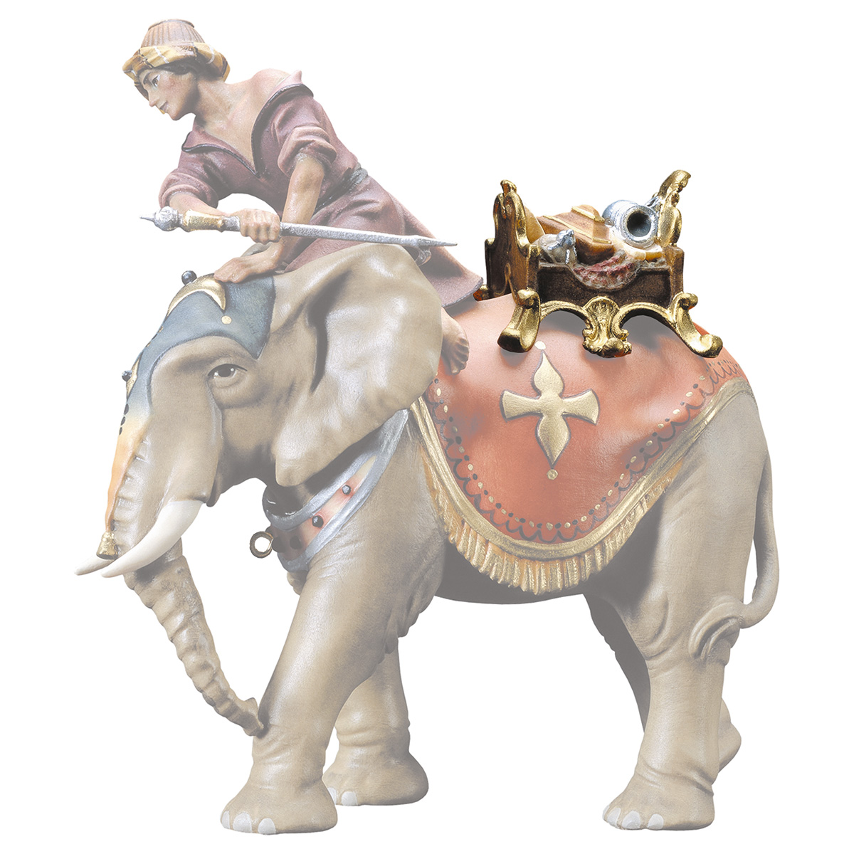 Schmucksattel (passend zu Elefant stehend)