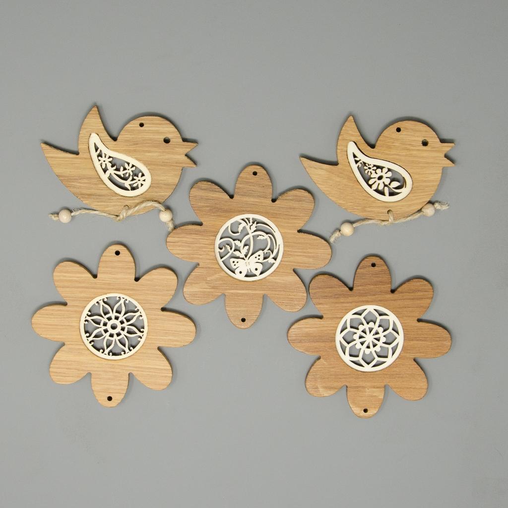 Set Ornamente Vollholzrahmen
