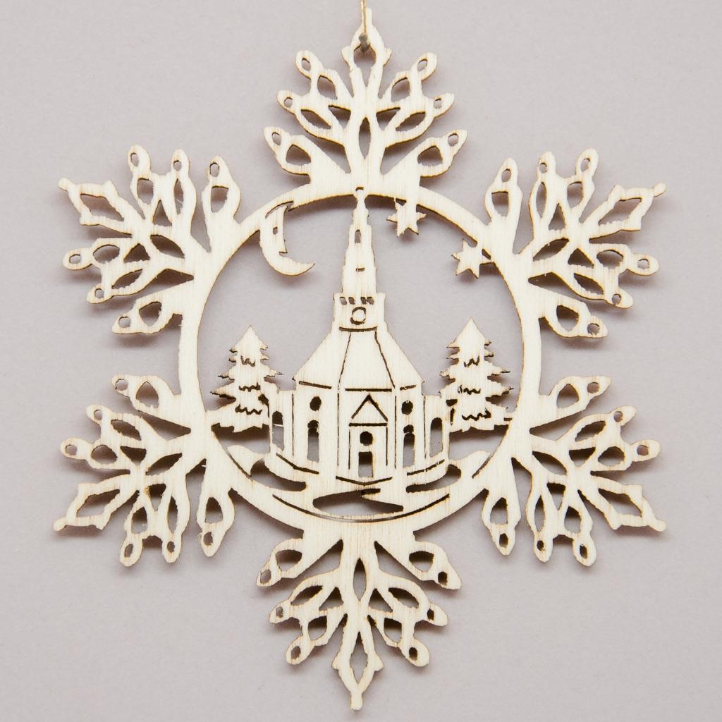 Schneeflocke Kirche Seiffen