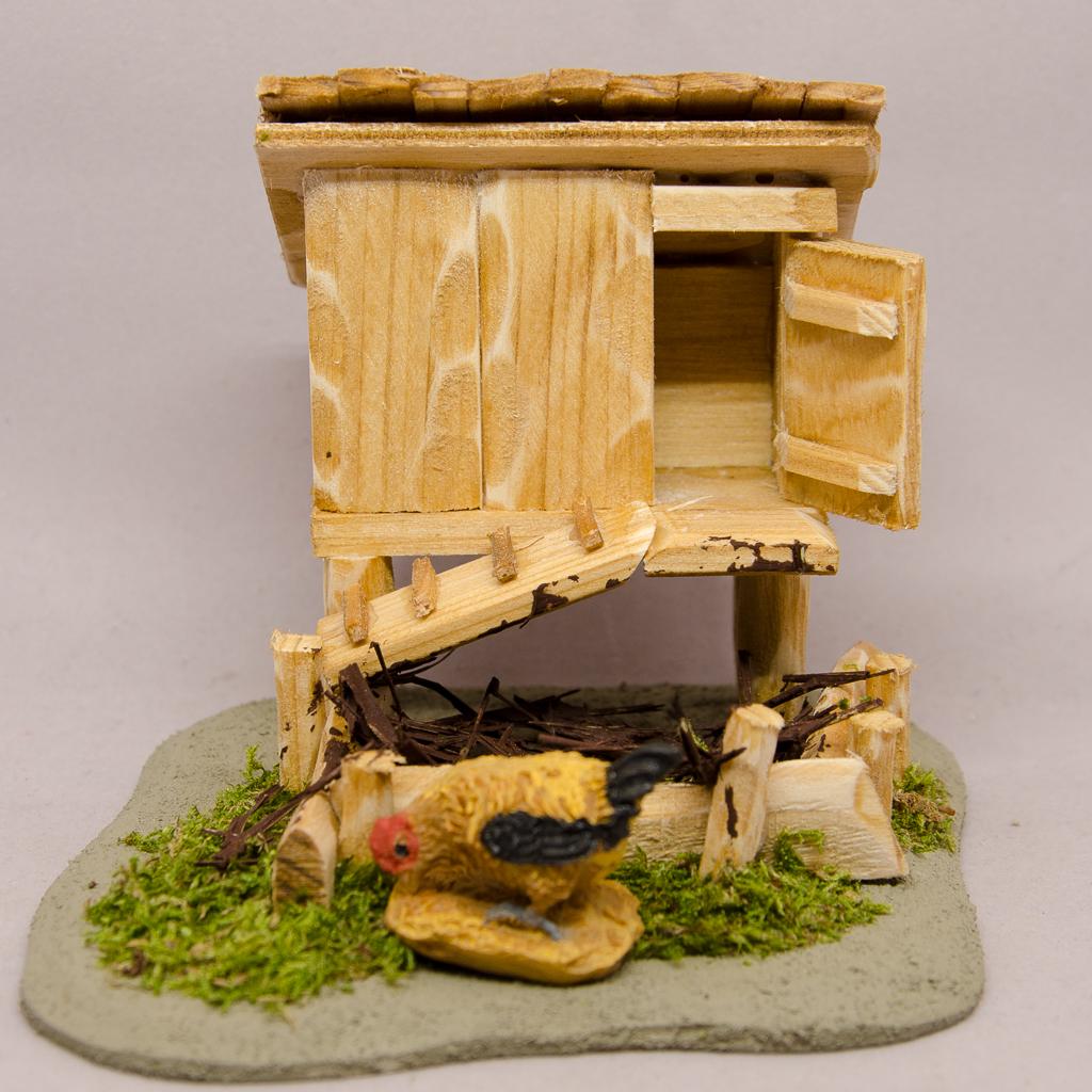 Hühnerhaus mit Kompost