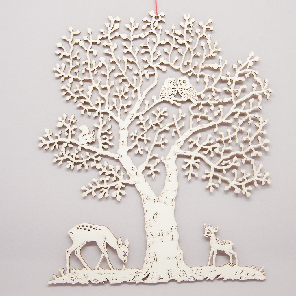 Rehe unterm Baum