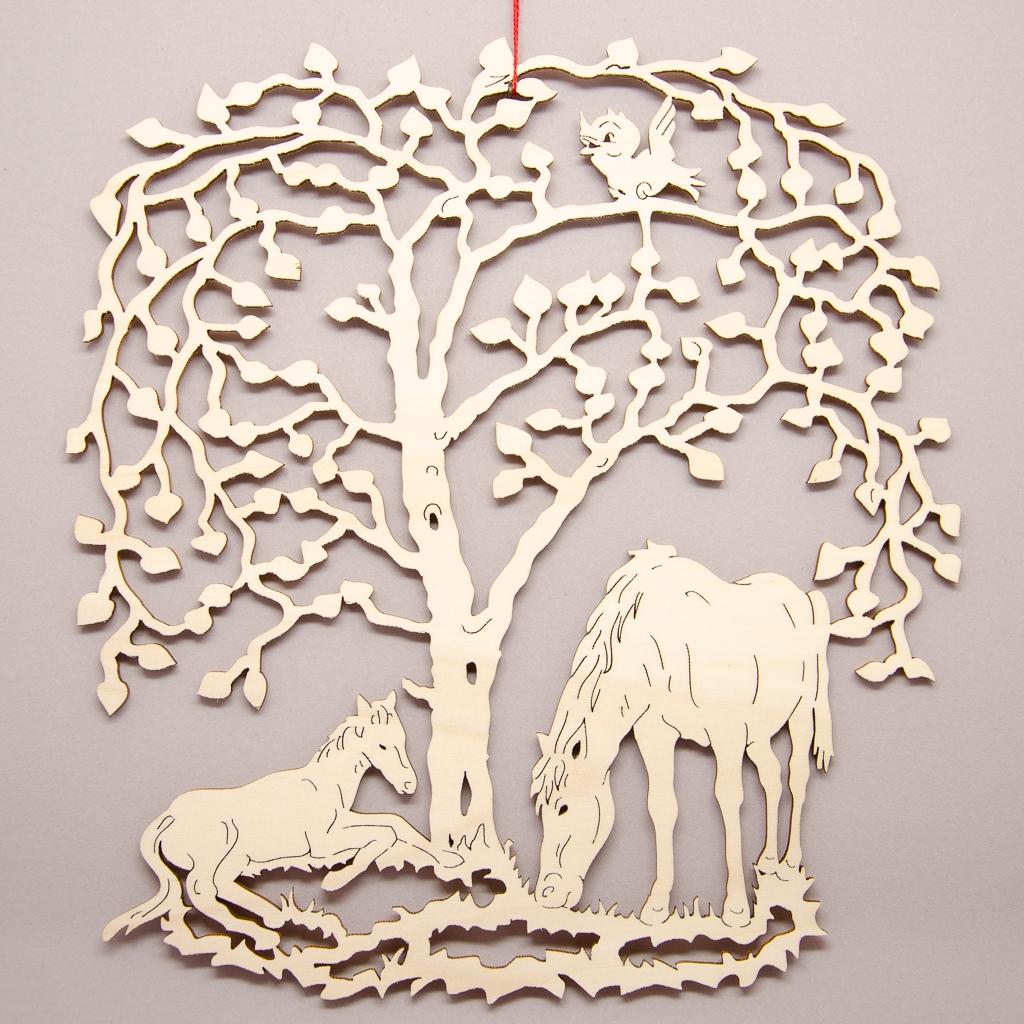 Pferde unterm Weidenbaum